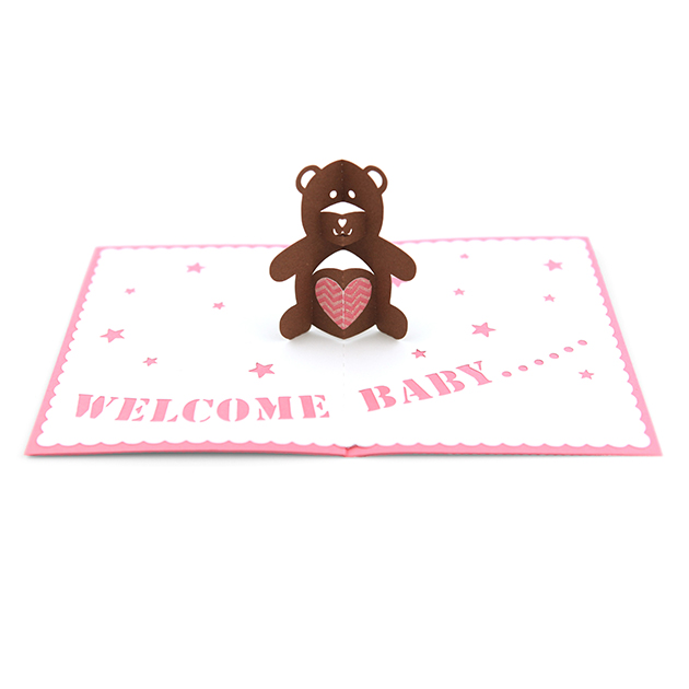 Pretty Teddy Bear Pop Up Card Template Free Images Gallery ...
