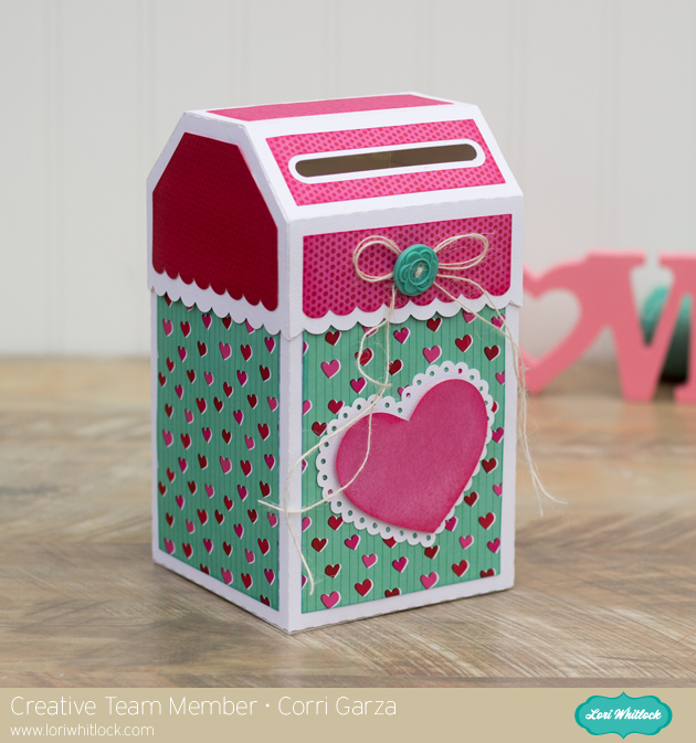 I Used Paper From American Crafts U2013 XOXO Collection And Embellished The  Front With One Of Loriu0027s Pretty Doily Hearts. This Finished Mailbox Is  Pretty ...