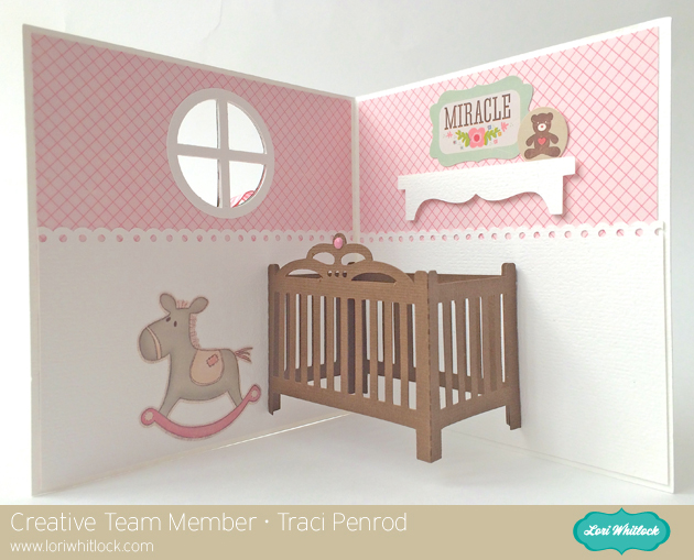 Baby Crib/Bed Pop Up Card Tutorial with Traci - Lori Whitlock