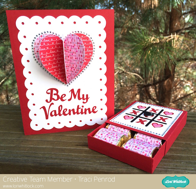 valentine card  treat box with traci  lori whitlock