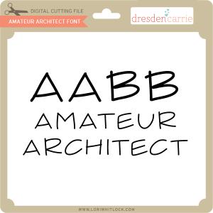 dc amateur architect font