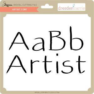 dc artist font