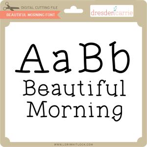 dc beautiful morning font