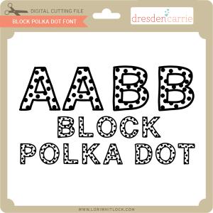 dc block polka dot font