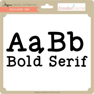 dc bold serif font