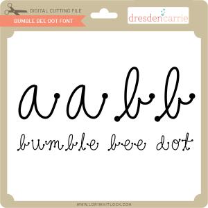 dc bumble bee dot font