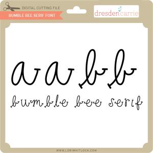 dc bumble bee serif font