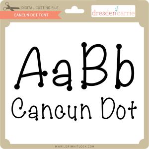 dc cancun dot font