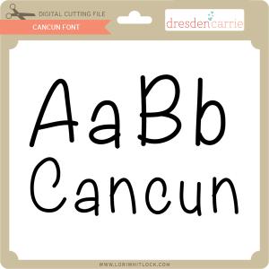 dc cancun font