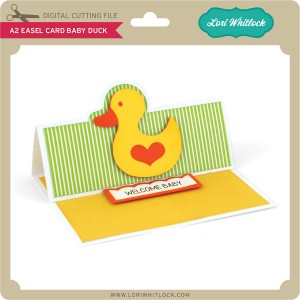 LW-A2-Easel-Card-Baby-Duck