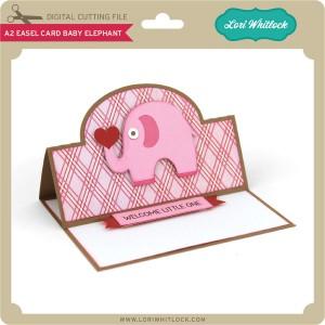 LW-A2-Easel-Card-Baby-Elephant