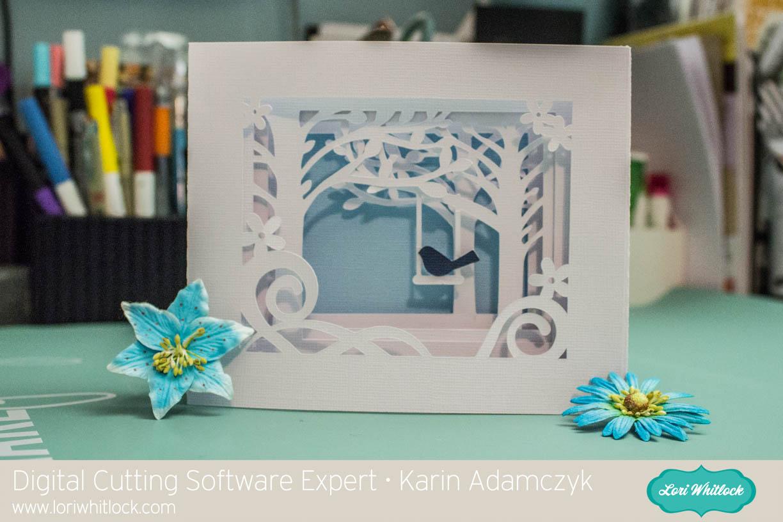 Shadow Box Card Tutorial For Cricut Design Space With Karin