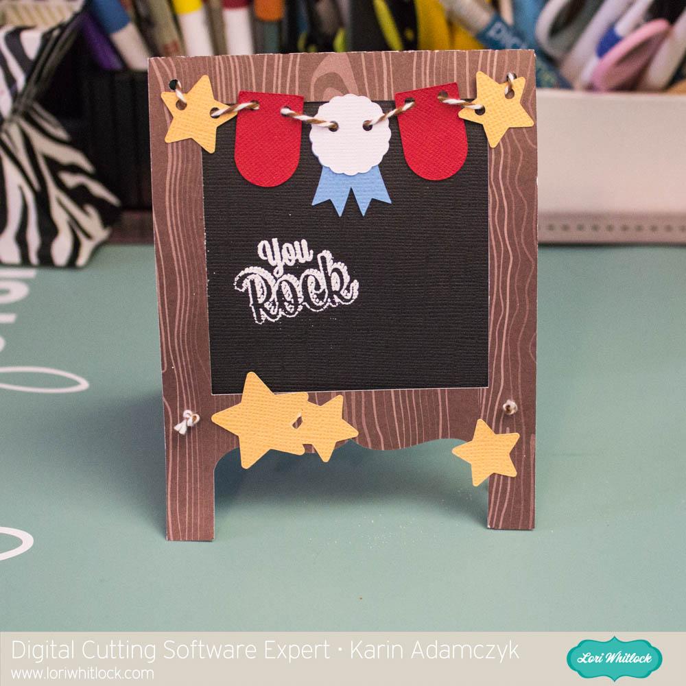 Chalkboard Card For A Teacher Using Cricut Design Space With Karin