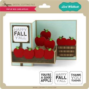 lw pop up box card apples lori whitlock