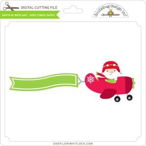 DB-Santa-in-Airplane-Here-Comes-Santa