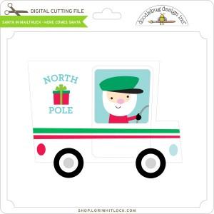DB-Santa-in-Mailtruck-Here-Comes-Santa