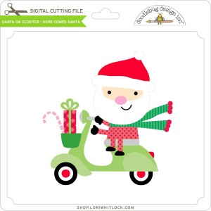 DB-Santa-on-Scooter-Here-Comes-Santa