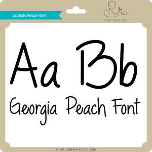 RR-Georgia-Peach-Font