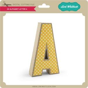 LW-3D-Alphabet-Letter-A