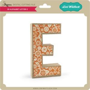 LW-3D-Alphabet-Letter-E