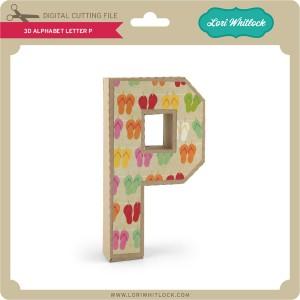 LW-3D-Alphabet-Letter-P