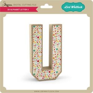 LW-3D-Alphabet-Letter-U