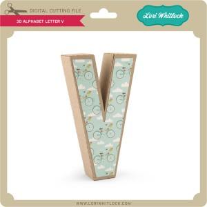 LW-3D-Alphabet-Letter-V