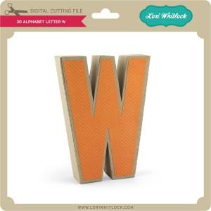 LW-3D-Alphabet-Letter-W