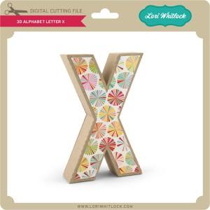 LW-3D-Alphabet-Letter-X