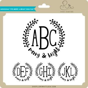 RR-Monogram-Type-Merry-&-Bright-Ring-Font