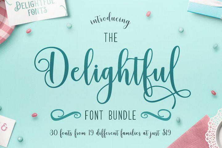 Download The Delightful Font Bundle + Free SVG - Lori Whitlock