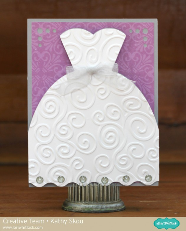 the best thing about this card is that it is so easy to customize it comes with multiple pieces for the wedding dress including a full dress as well as a