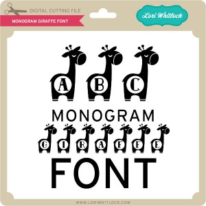 LW-Monogram-Giraffe-Font