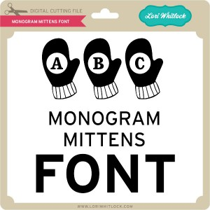 LW-Monogram-Mittens-Font