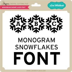 LW-Monogram-Snowflakes-Font