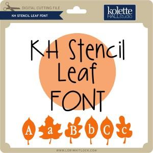 KH-Stencil-Leaf-Font