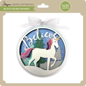 SAS-Believe-Unicorn-Ornament