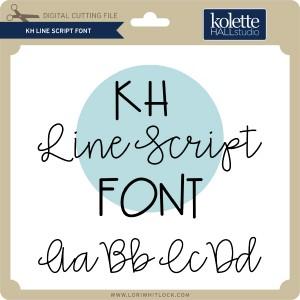 KH-Line-Script-Font