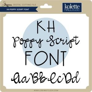 KH-Poppy-Script-Font