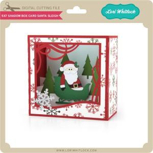 LW-5x7-Shadow-Box-Card-Santa-Sleigh