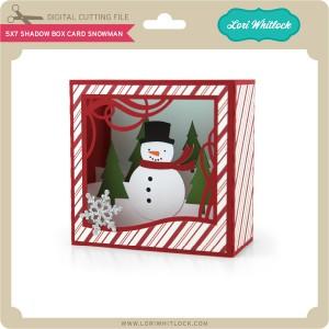 LW-5x7-Shadow-Box-Card-Snowman