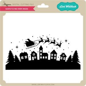 LW-Santa-Flying-Over-House