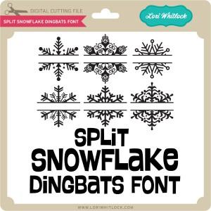 LW-Split-Snowflake-Dingbats-Font