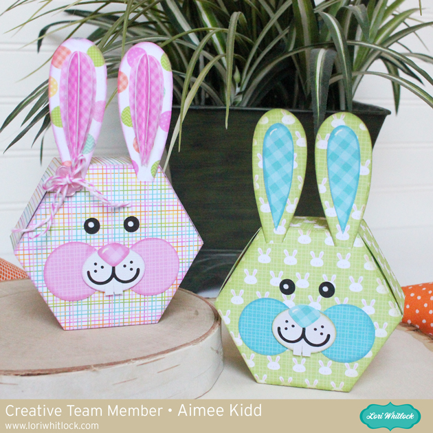 Hexagon Easter Bunny Box tutorial by Aimee