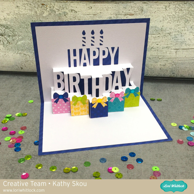 Pop Up Birthday Cake Card Tutorial With Kathy