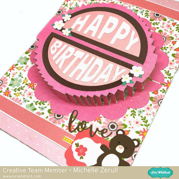 A2 Pop Up Round Cake Card Tutorial With Michelle