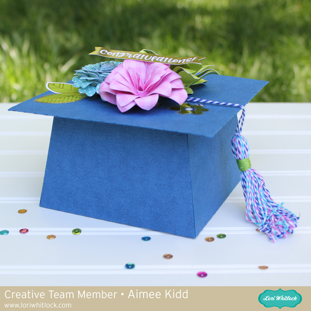 3D Graduation Cap Favor Box by Aimee