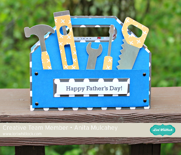 Lisa S Tool Time Father S Day Card: Father's Day Tool Box Card Tutorial With Anita