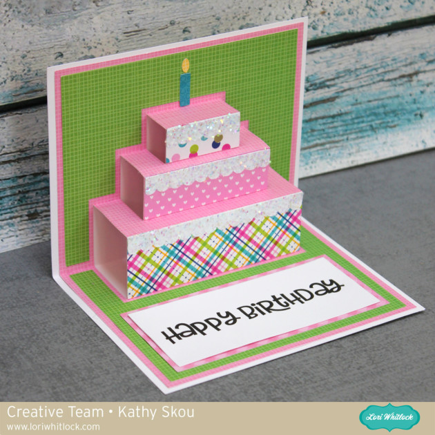 I Just Love Loris Pop Up Cards Theyre So Simple But Make A Big Impact Used Her Three Tier Birthday Cake Card SVG File Silhouette For
