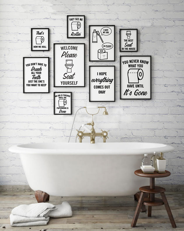 New Product Feature Funny Bathroom Phrase Bundle
